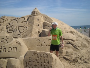 Me at the Shamrock Sand Sculpture