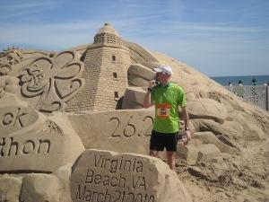 Me at the Shamrock Sand Sculpture
